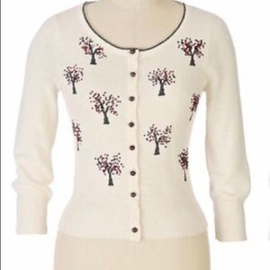 Anthro Field Flower Heavenly Orchard Cardigan